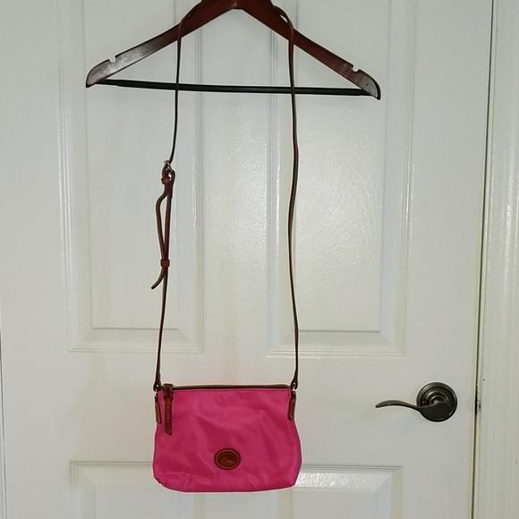 Dooney & Bourke Handbags - NWOT Dooney and Bourke Pink Nylon Crossbody
